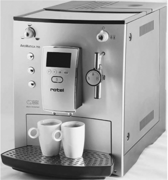 Magyar menüs Rotel Aromatica 753 automata kávéfőző